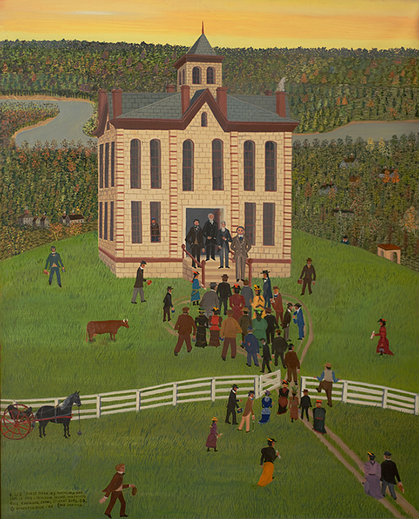 KU's First Morning in 1866 by Streeter Blair