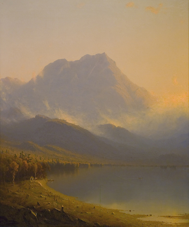 <a href='http://collection.spencerart.ku.edu/eMuseumPlus?service=ExternalInterface&module=collection&objectId=21603&viewType=detailView' target='_blank'><i>Morning in the Adirondacks</i> by Sanford Robinson Gifford</a>