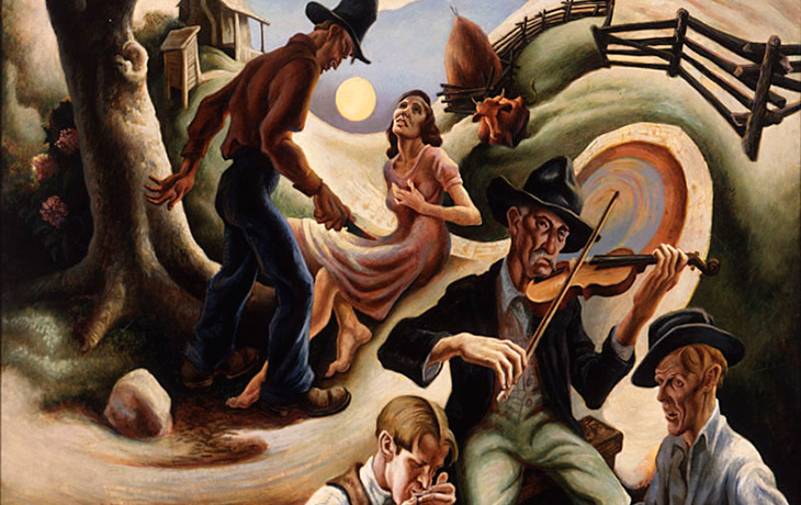 detail: Thomas Hart Benton, The Ballad of the Jealous Lover of Lone Green Valley