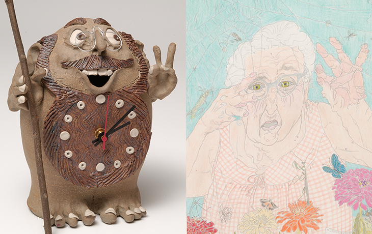 Examples of folk art in the Classroom Collection