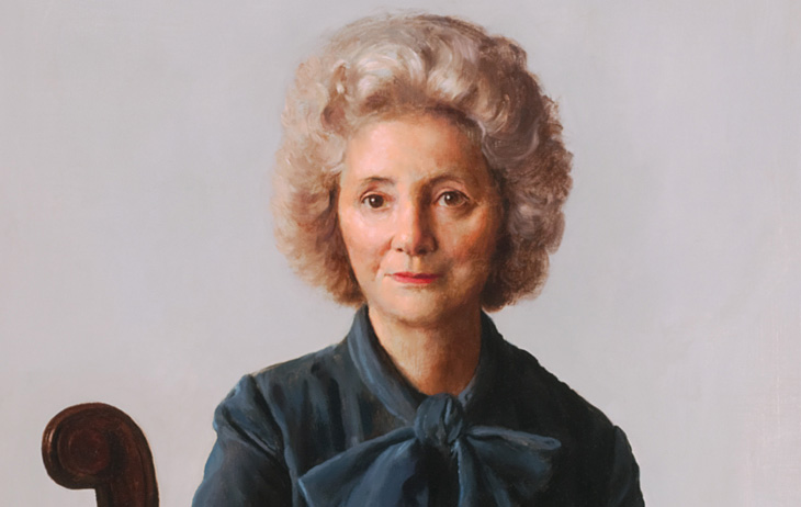 detail: Portrait of Helen Foresman Spencer by John Koch