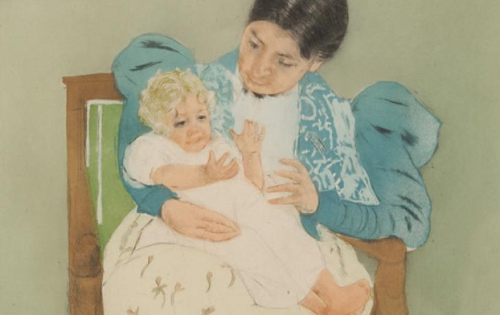 detail: The Barefooted Child by Mary Cassatt