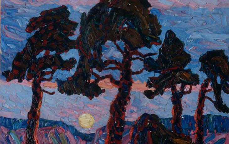 Landscape with Four Trees by Birger Sandzén
