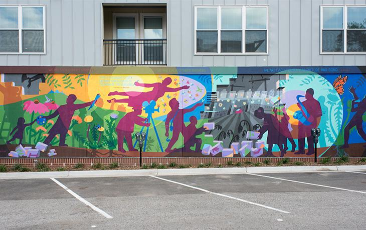 "Creation of the ""Pollinators"" mural"