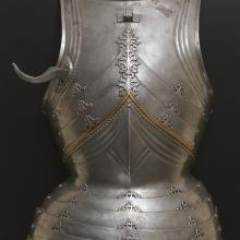 <a href='http://collection.spencerart.ku.edu/eMuseumPlus?service=ExternalInterface&module=collection&objectId=29050&viewType=detailView' target='_blank'><i>cuirass (breastplate)</i> by Germany</a>