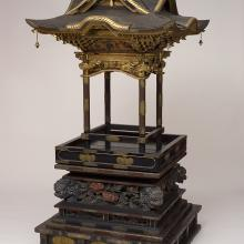 <a href='http://collection.spencerart.ku.edu/eMuseumPlus?service=ExternalInterface&module=collection&objectId=26029&viewType=detailView' target='_blank'><i>Kyūden zushi (palace-style shrine)</i> by Japan</a>