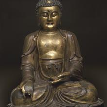 <a href='http://collection.spencerart.ku.edu/eMuseumPlus?service=ExternalInterface&module=collection&objectId=4334&viewType=detailView' target='_blank'><i>Yaoshi fo 藥師佛 Bhaisajyaguru (Medicine Buddha)</i> by China</a>