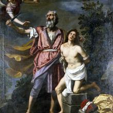 <a href='http://collection.spencerart.ku.edu/eMuseumPlus?service=ExternalInterface&module=collection&objectId=10070&viewType=detailView' target='_blank'><i>The Sacrifice of Isaac</i> by Jacopo da Empoli</a>