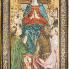 "<a href=""https://spencerartapps.ku.edu/collection-search#/object/10153"" target=""_blank""><i>Madonna and Saints</i> by Bernardo Zenale</a>"