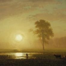 <a href='http://collection.spencerart.ku.edu/eMuseumPlus?service=ExternalInterface&module=collection&objectId=10190&viewType=detailView' target='_blank'><i>Sunset on the Plains</i> by Albert Bierstadt</a>