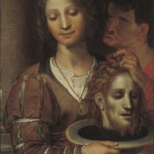 <a href='http://collection.spencerart.ku.edu/eMuseumPlus?service=ExternalInterface&module=collection&objectId=10910&viewType=detailView' target='_blank'><i>Salome with Head of John the Baptist</i> by Pieter Cornelisz. van Rijck</a>