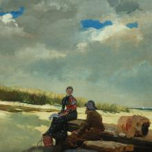 <a href='http://collection.spencerart.ku.edu/eMuseumPlus?service=ExternalInterface&module=collection&objectId=4324&viewType=detailView' target='_blank'><i>Cloud Shadows</i> by Winslow Homer</a>