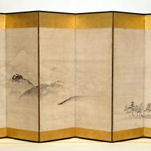 <a href='http://collection.spencerart.ku.edu/eMuseumPlus?service=ExternalInterface&module=collection&objectId=15360&viewType=detailView' target='_blank'><i>Landscape with Mt. Fuji</i> by Ike no Taiga</a>