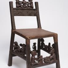 <a href='http://collection.spencerart.ku.edu/eMuseumPlus?service=ExternalInterface&module=collection&objectId=32492&viewType=detailView' target='_blank'><i>ngunja (carved chair)</i> by Chokwe peoples</a>