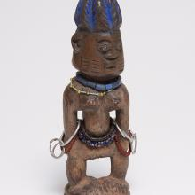 <a href='http://collection.spencerart.ku.edu/eMuseumPlus?service=ExternalInterface&module=collection&objectId=36974&viewType=detailView' target='_blank'><i>ere ibegji (twin figure)</i> by Yoruba peoples</a>