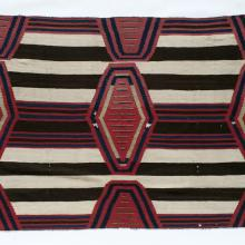 <a href='http://collection.spencerart.ku.edu/eMuseumPlus?service=ExternalInterface&module=collection&objectId=32072&viewType=detailView' target='_blank'><i>third phase chief's blanket</i> by Diné (Navajo) peoples</a>