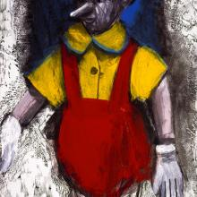 "<a href=""https://spencerartapps.ku.edu/collection-search#/object/48937"" target=""_blank""><i>Red Enamel Pants</i> by Jim Dine</a>"