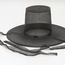 <a href='http://collection.spencerart.ku.edu/eMuseumPlus?service=ExternalInterface&module=collection&objectId=35676&viewType=detailView' target='_blank'><i>gat</i> (<i>horse hair hat</i>), 1900s, Korea</a>