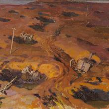 "<a href=""https://spencerartapps.ku.edu/collection-search#/object/47257"" target=""_blank""><i>untitled (soldiers in bomb craters)</i> by André Edouard Devambez</a>"