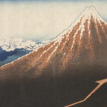 <a href='https://spencerartapps.ku.edu/collection-search#/object/7514' target='_blank'><i>凱風快晴 (The South Wind brings Fine Weather)</i> by Katsushika Hokusai</a>