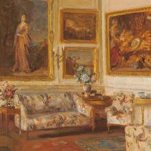 <a href='https://spencerartapps.ku.edu/collection-search#/object/9175' target='_blank'><i>Ranston House, Dorset</i> by Walter Gay</a>