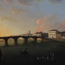 <a href='https://spencerartapps.ku.edu/collection-search#/object/9715' target='_blank'><i>View of the Arno River in Florence</i> by Thomas Patch</a>