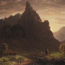 <a href='https://spencerartapps.ku.edu/collection-search#/object/10056' target='_blank'><i>In the Simmental, Switzerland</i> by Thomas Cole</a>