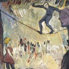 <a href='https://spencerartapps.ku.edu/collection-search#/object/13056' target='_blank'><i>Slack Wire</i> by Albert Bloch</a>