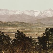 <a href='https://spencerartapps.ku.edu/collection-search#/object/45050' target='_blank'><i>Mount Sneffles Range. Colorado.</i> by William Henry Jackson</a>